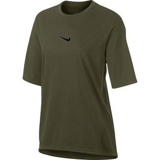 Nike Dry Elevated Funktionsshirt Damen olive canvas/black