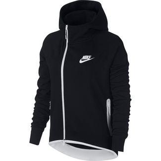 Nike Tech Fleece Sweatjacke Damen black/white