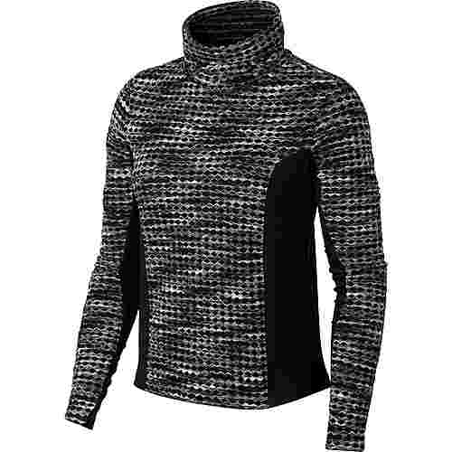 Nike Pro Hyperwarm Funktionsshirt Damen black/black