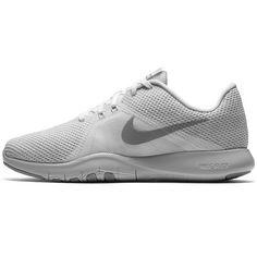 Nike Flex Trainer 8 Fitnessschuhe Damen white/silver-pure platinum-wolf grey