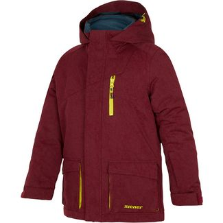 Ziener Parka Kinder burgundy canvas