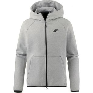 02e949b44bca Nike NSW TECH FLEECE Kapuzenjacke Herren dk grey heather-black-black