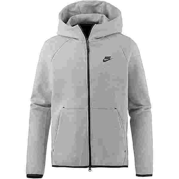 Nike NSW TECH FLEECE Kapuzenjacke Herren dk grey heather-black-black