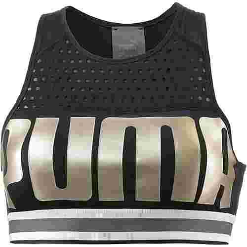 PUMA Sport-BH Damen puma black-metallicgoldpuma