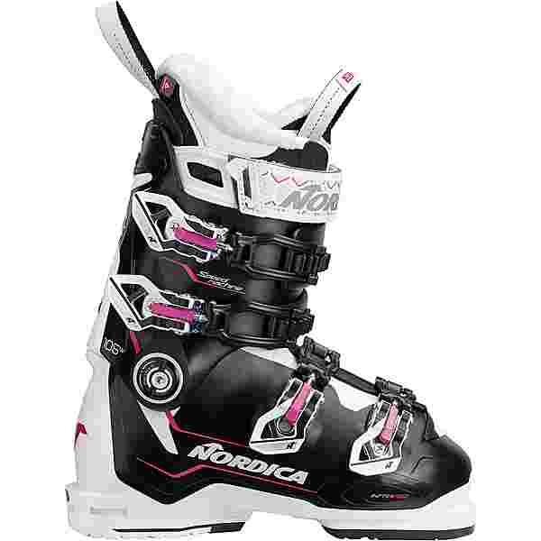 Nordica SPEEDMACHINE 105 W Skischuhe Damen BLACK-WHITE-FUCSIA