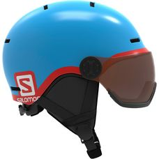 Salomon Grom Visor Skihelm Kinder blue