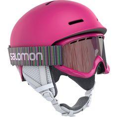 Salomon Player Combo Skihelm Kinder Pink Matt
