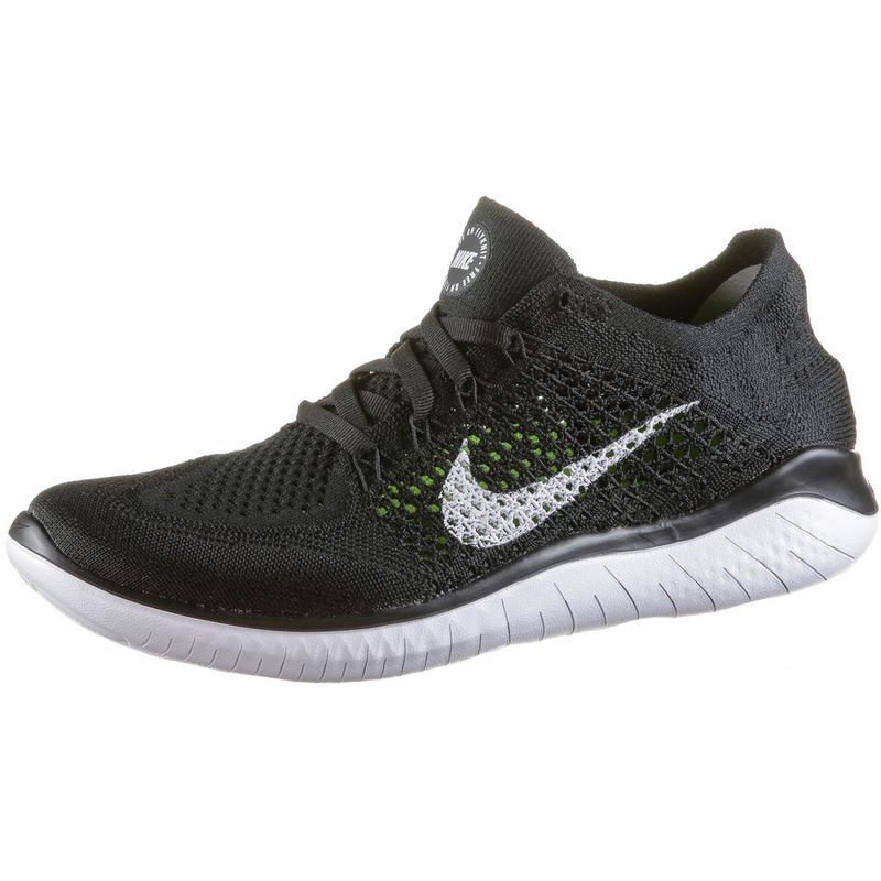 Nike Free RN Flyknit 2018 Laufschuhe Damen black white im Online