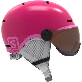 Salomon Grom Visor Skihelm Kinder glossy/pink