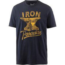 Under Armour Heatgear Project Rock Iron Paradise Funktionsshirt Herren black-steeltown-gold