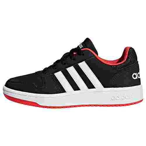 adidas VS Hoops 2.0 Sneaker Kinder Core Black / Cloud White / Hi-Res Red