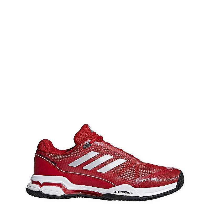premium selection 43142 a9ea2 adidas Barricade Club Clay Multifunktionsschuhe Herren Scarlet  Matte  Silver  Ftwr White