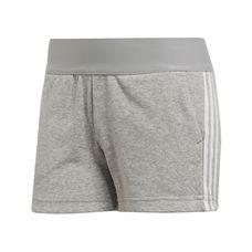 adidas Shorts Damen Medium Grey Heather / White