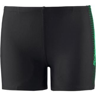 SPEEDO Kastenbadehose Kinder black fake green