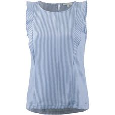 TOM TAILOR Kurzarmbluse Damen vertical blue white stripe