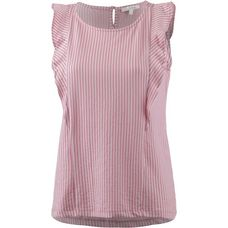 TOM TAILOR Kurzarmbluse Damen rose white stripe