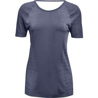 Under Armour Threadborne Seamless Funktionsshirt Damen utility blue-washed blue-metallic silver