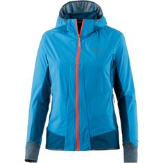 SALEWA PEDROC 2 SW/DST Softshelljacke Damen hawaiian blue