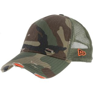 New Era A-Frame Trucker Cap woodland camo
