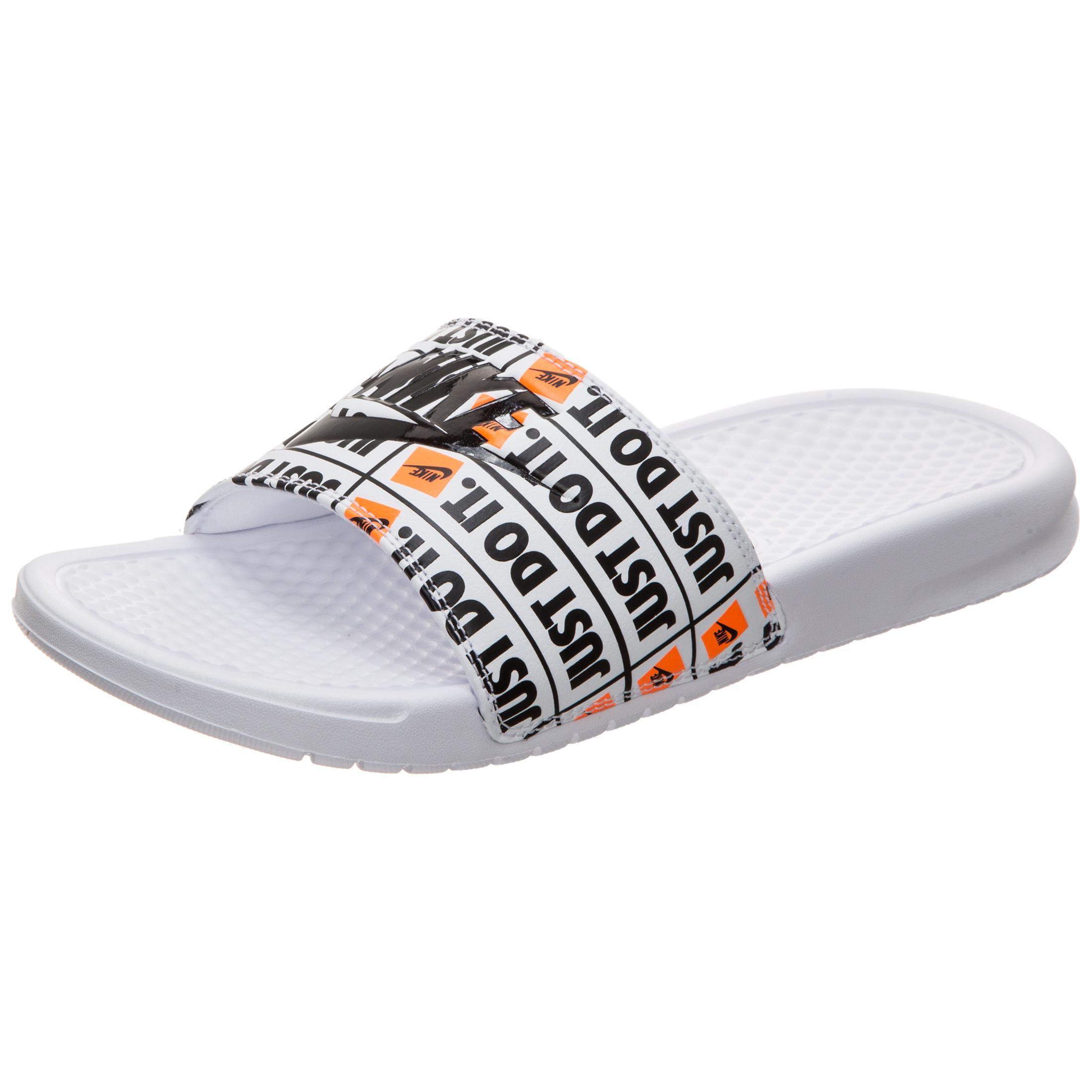 the best attitude 99400 a1352 Nike Benassi Just Do It Print Sandalen Herren weiß / schwarz im Online Shop  von SportScheck kaufen