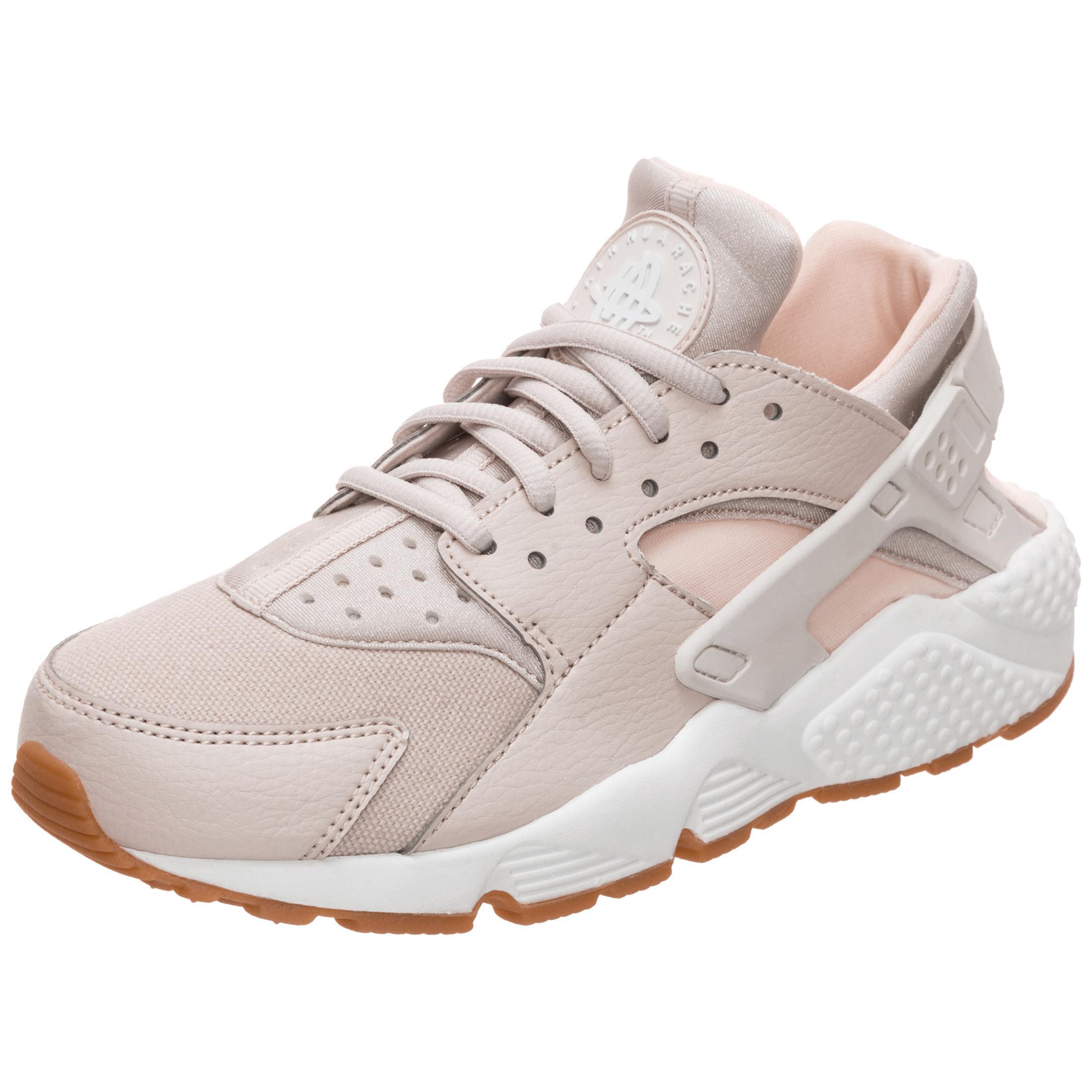 Nike Air Huarache Run Sneaker Damen beige / weiß / rosa im Online ...