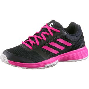 adidas Barricade club w cl Tennisschuhe Damen legend ink-shock pink-white
