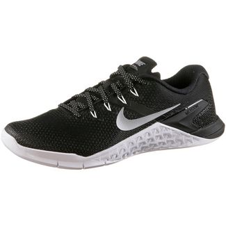 Nike Metcon 4 Fitnessschuhe Damen black-metallic silver-white-volt glow-wolf grey
