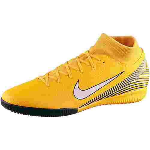 Nike MERCURIAL SUPERFLYX 6 ACADEMY NJR IC Fußballschuhe amarillo-white-black-black
