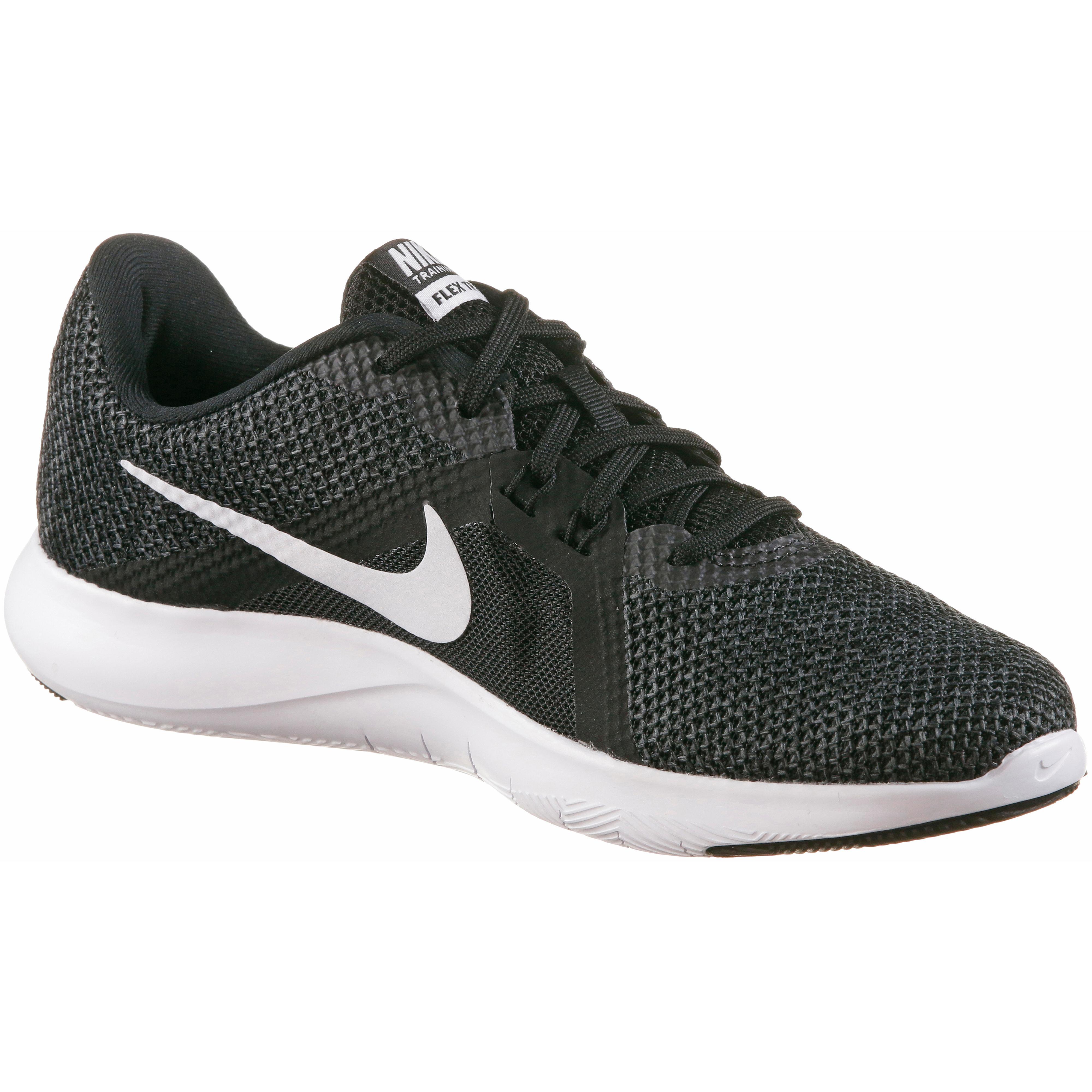 newest d6edf 5bc8b Nike Flex Trainer 8 Fitnessschuhe Damen black-white-anthracite im Online  Shop von SportScheck kaufen