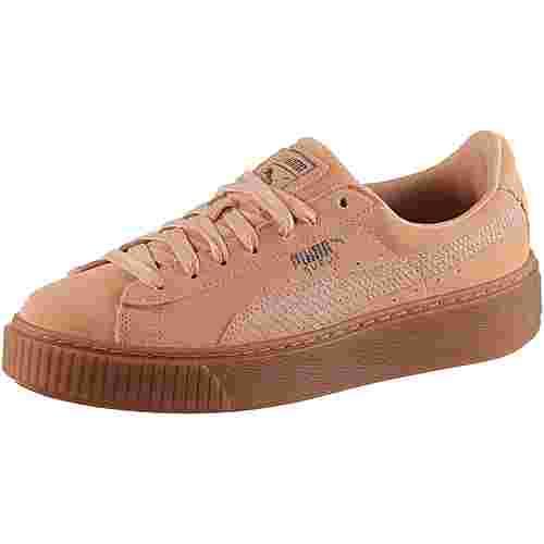 PUMA SUEDE PLATFORM Sneaker Damen dusty coral-puma silver
