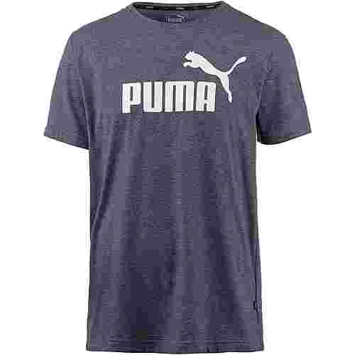 PUMA ESS T-Shirt Herren peacoat heather