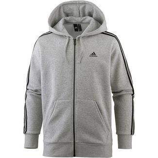 adidas Essential 3S Kapuzenjacke Herren medium-grey-heather