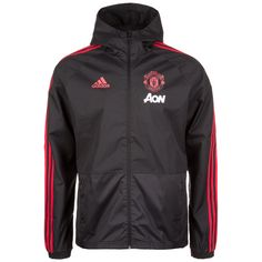 adidas Manchester United Regenjacke Herren schwarz / rot