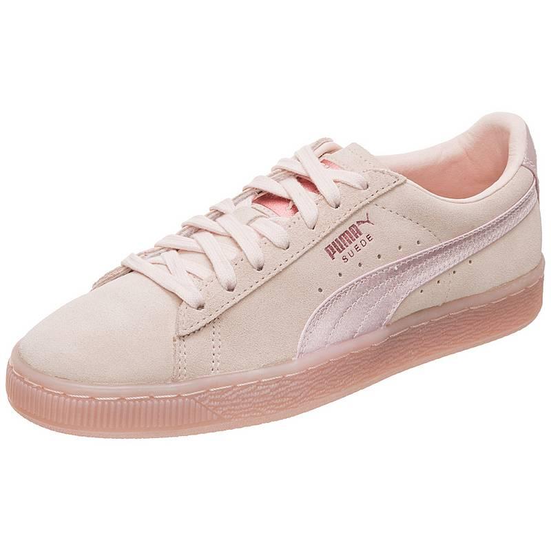 df6425e5e7 PUMA Suede Classic Satin Sneaker Damen beige   rosa im Online Shop ...