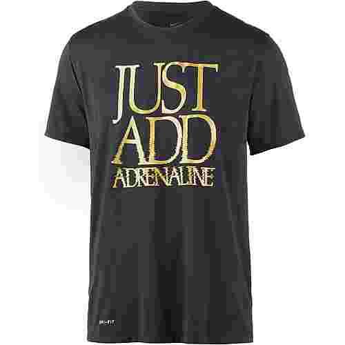Nike Dry Tee Legend Adrenaline Laufshirt Herren schwarz/metallic gold