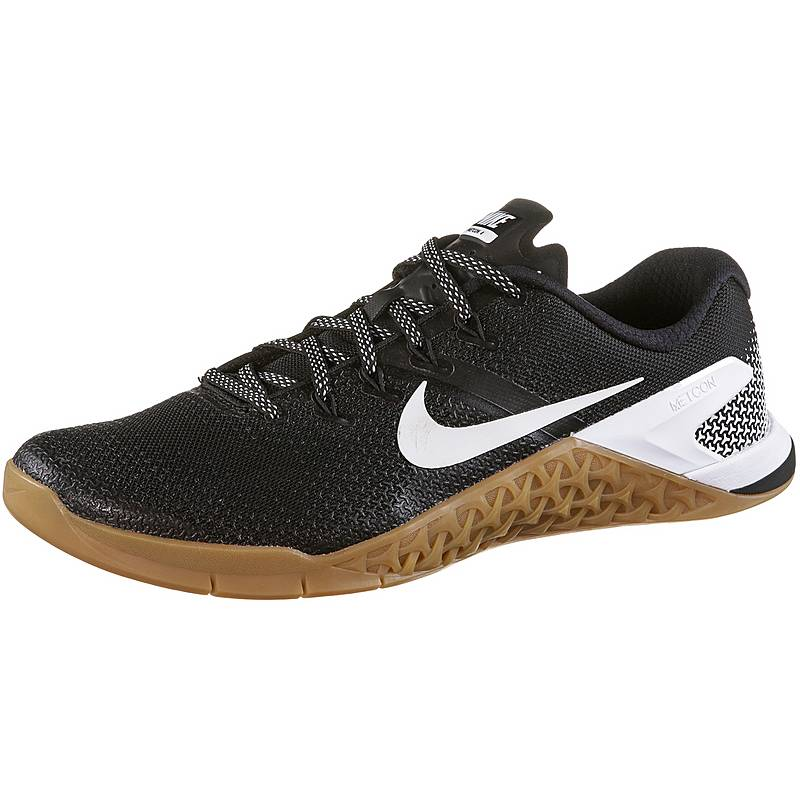 newest b9027 89a9a Nike Metcon 4 Fitnessschuhe Herren black-white-gum-med-brown