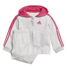adidas Trainingsanzug Kinder Light Grey Heather / Real Magenta