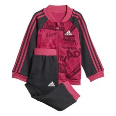 adidas Trainingsanzug Damen Real Magenta / Black / White