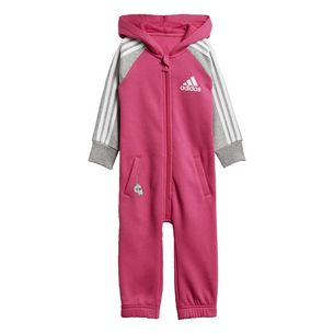 adidas Trainingsanzug Damen Real Magenta / Medium Grey Heather / White