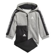 adidas Trainingsanzug Medium Grey Heather / Black / White