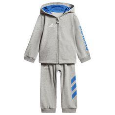 adidas Trainingsanzug Medium Grey Heather / Blue / White