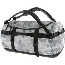 The North Face Base Camp Duffel Reisetasche tnf white macrofleck camo print-tnf black