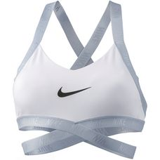 Nike Indy Logo Sport-BH Damen white-pure platinum-black
