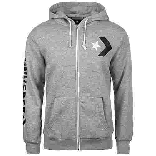 CONVERSE Star Chevron Graphic Sweatjacke Herren grau
