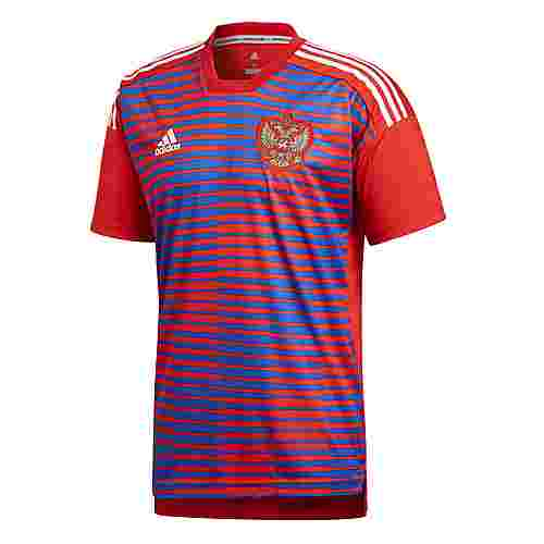 adidas Russland Home Pre-Match Funktionsshirt Herren Red/Power Blue