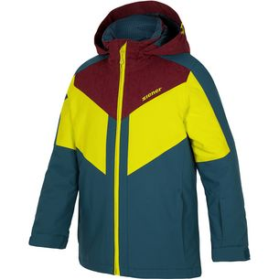 Ziener Skijacke Kinder methyl blue-burgundy canvas