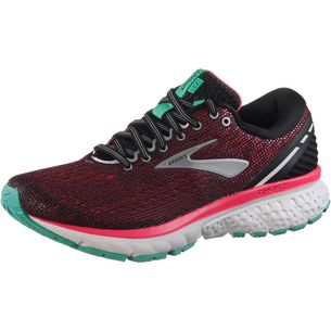 Brooks Ghost11 Laufschuhe Damen black-pink-aqua
