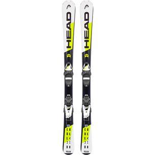 HEAD Supershape Team  SLR2 + SLR 4.5 AC All-Mountain Ski Kinder weiß/schwarz/gelb