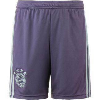 adidas FC Bayern 18/19 Auswärts Fußballshorts Kinder trace purple