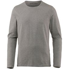 CORE by JACK & JONES Langarmshirt Herren light grey melange